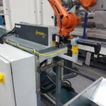 ABB 6 axis laser degating cell